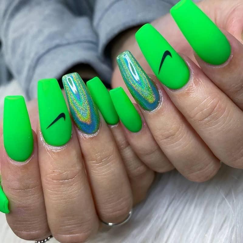 neon ballerina nails