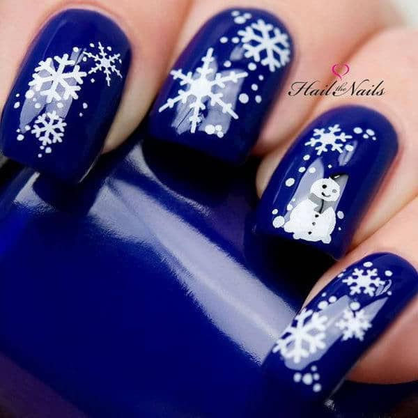 Snowflake Nail Designs 25 Ideas To Celebrate Winter