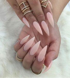 Nude Stiletto nail