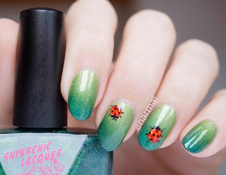 Green Ladybugs Design