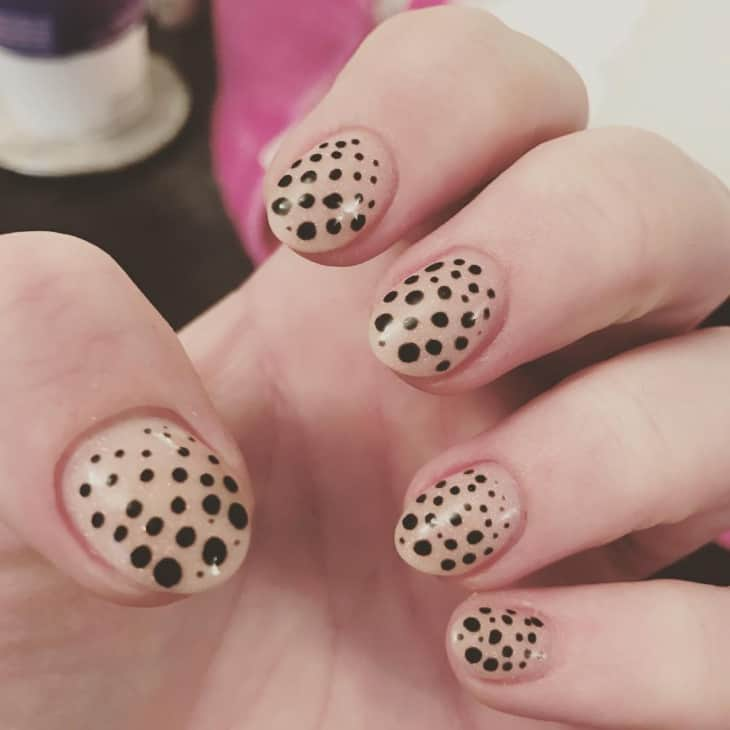Nude Dotted Nail Designs