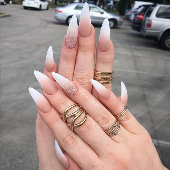 7 Nude Stiletto Nails To Complement Any Look Naildesigncode