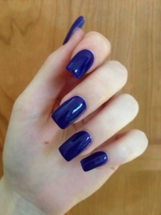 Light Blue Acrylic Nails Square