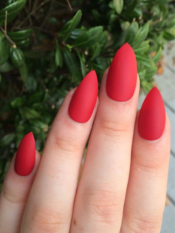 Red Stiletto Nail Design