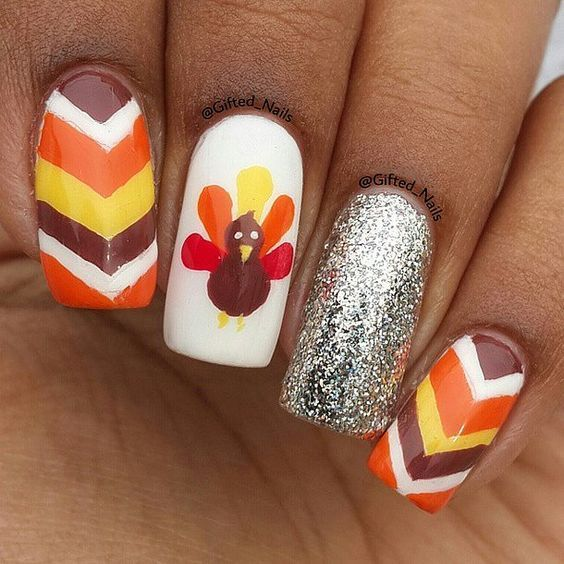 20 Thanksgiving Nail Art To Celebrate The Holiday Naildesigncode