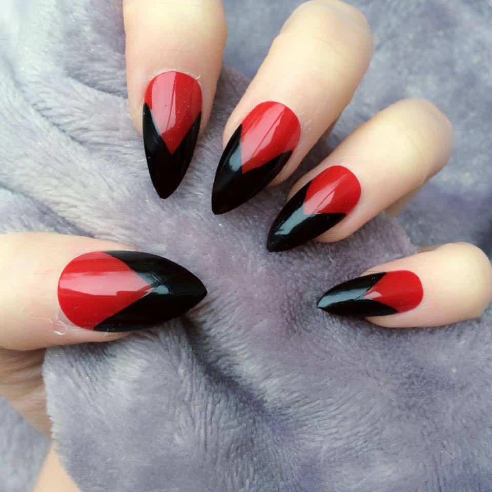 red and black tip nails wwwpixsharkcom images