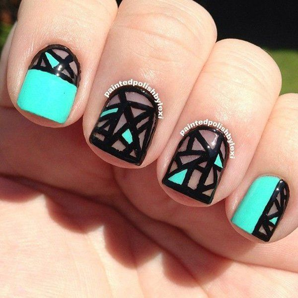 Cool Nail Art: 20 Artistic Abstract Nail Arts That'll Exceed Reality