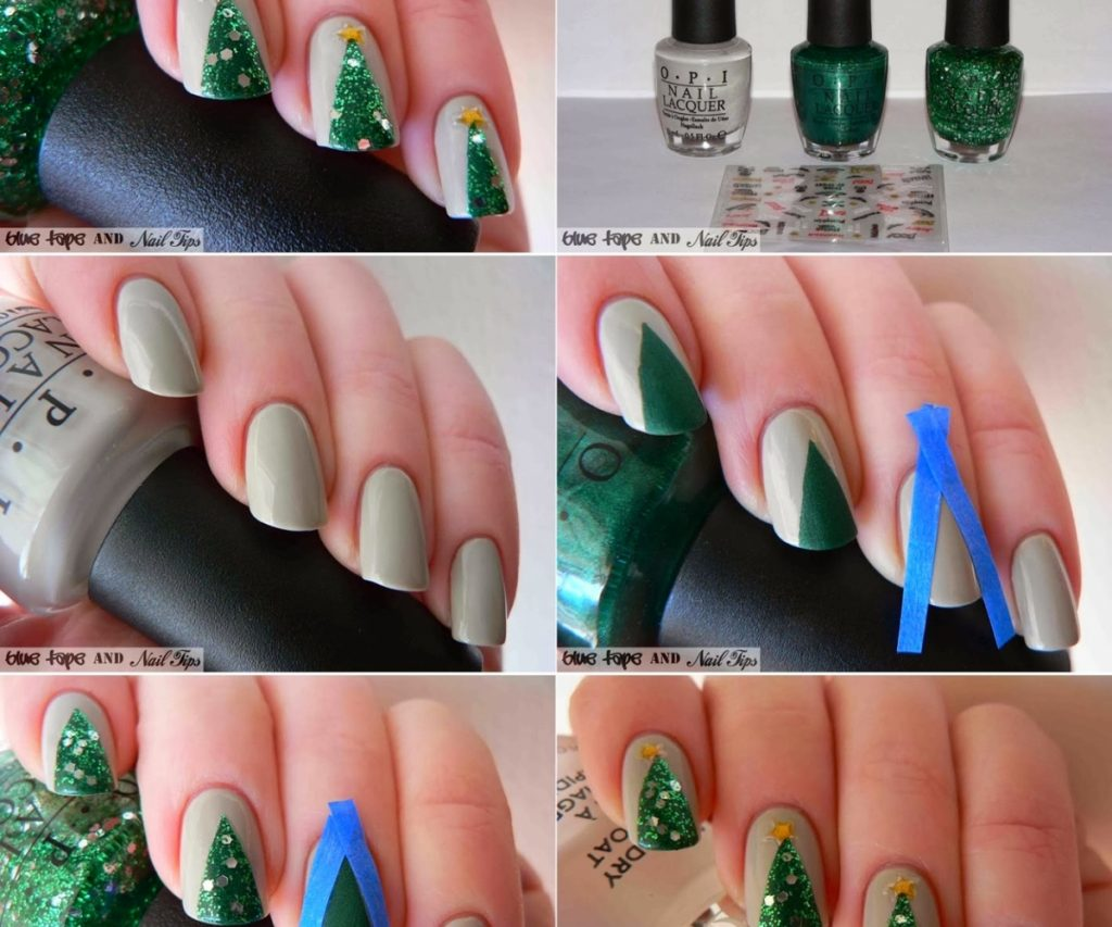 Step by Step Christmas Nail Design
