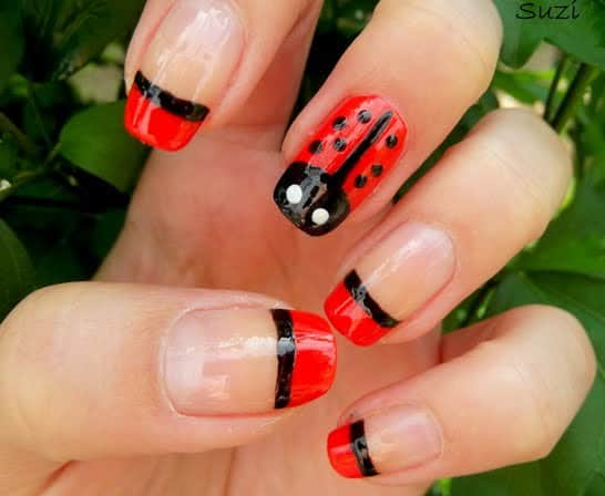 Ladybug Nail Designs 15 Ideas To Carry Good Luck Naildesigncode
