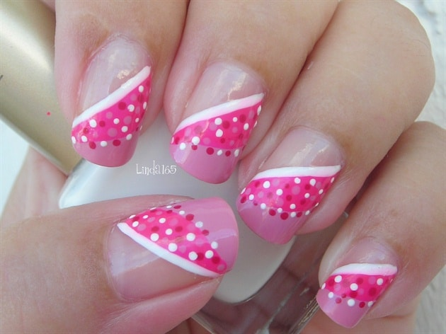 Polka Dot on Square Nail