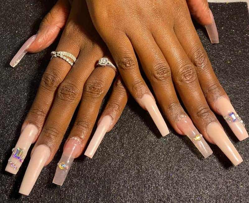 long skinny square nails