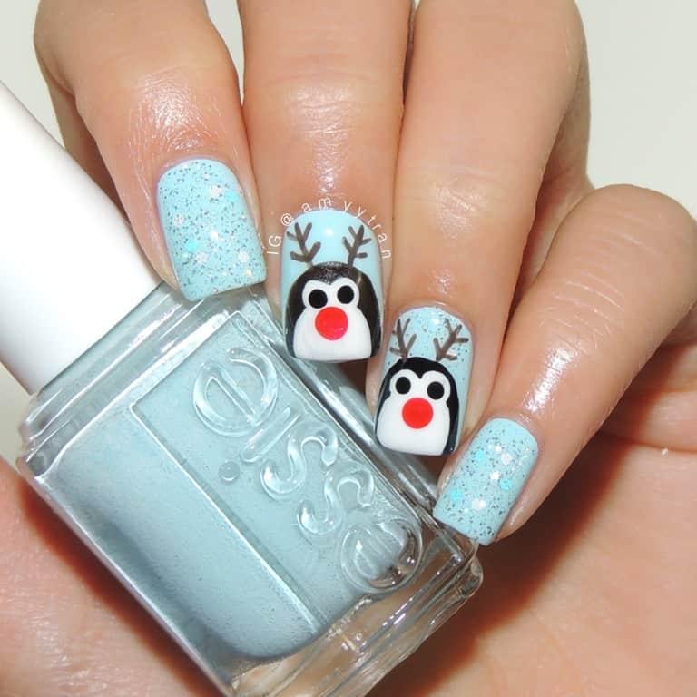 Snowman Reindeer Idea for Nail