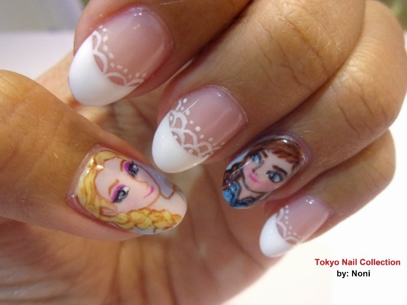 15 Fictional Frozen Nail Designs Inspired from The Disney Movie