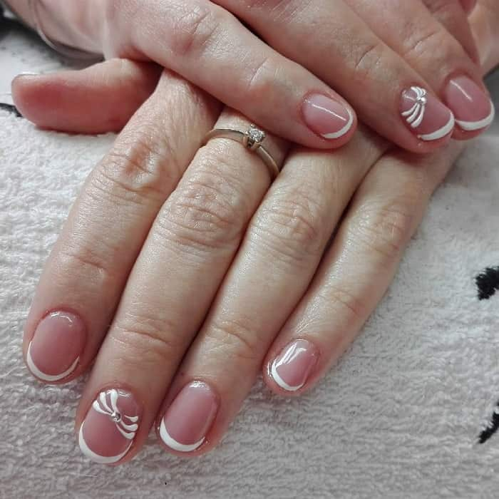 Short Round French Nails