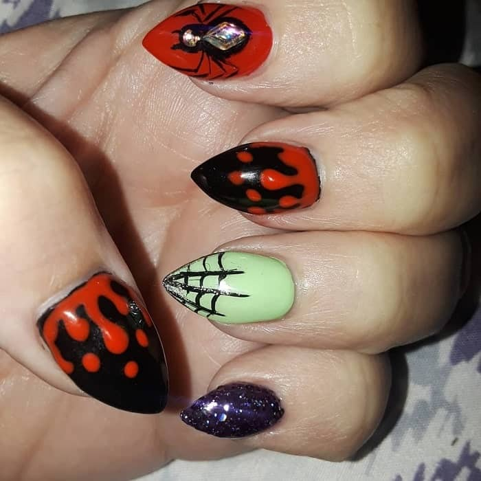 short stiletto nails for halloween