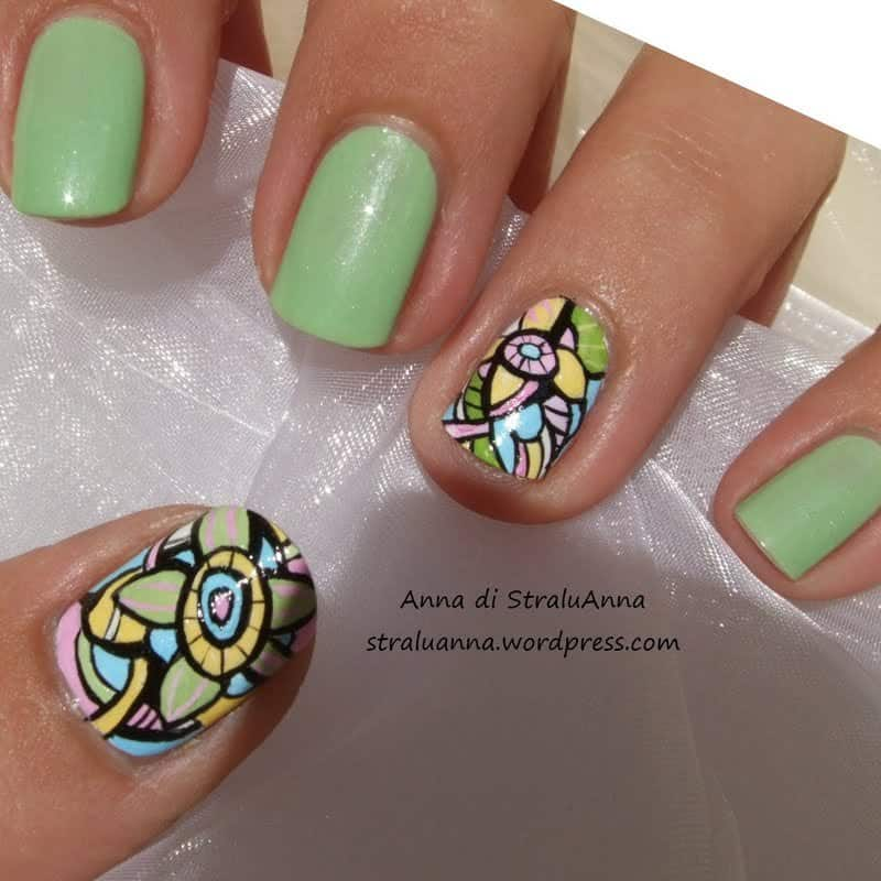 20 Artistic Abstract Nail Arts Thatll Exceed Reality Naildesigncode