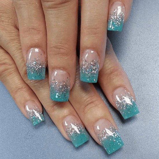 Squoval Silvers: Square Acrylic Nails: 40 Designs To Play It Cool & Cheeky