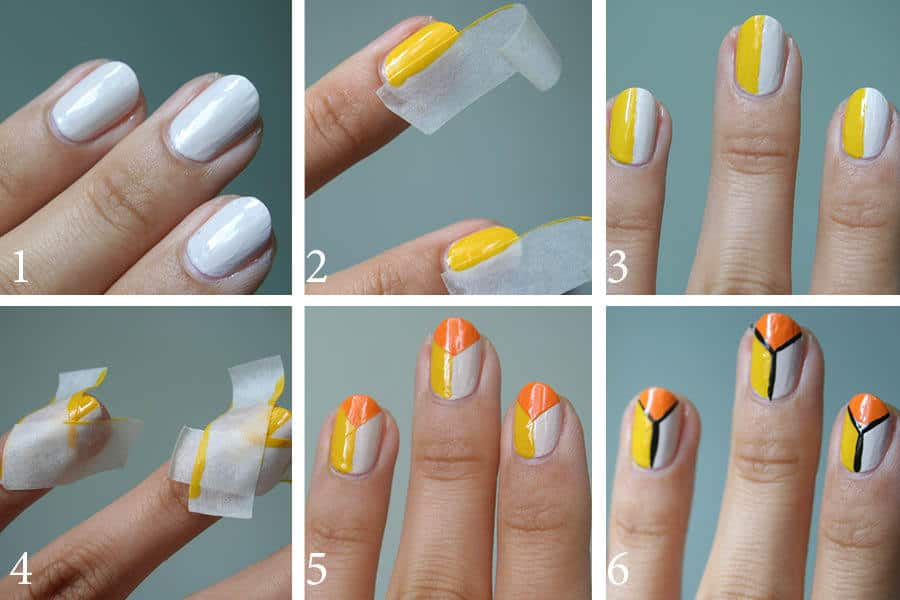 Step by Step Tape Nail Art