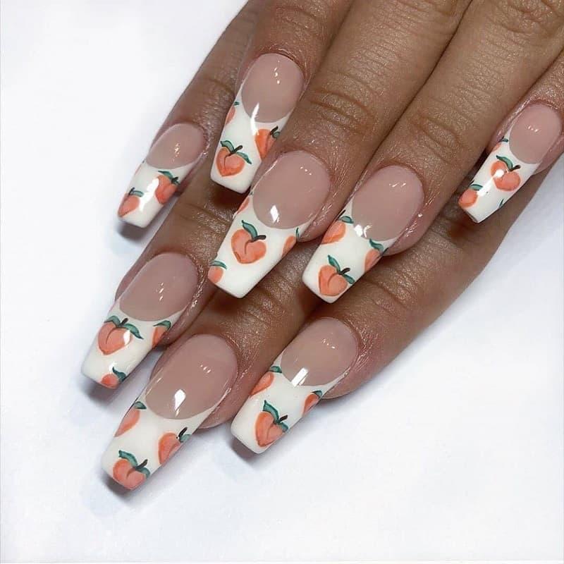 airbrush white tip nail