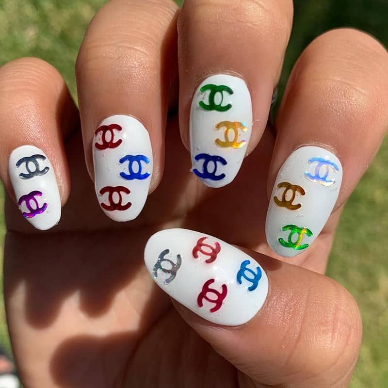 chanel nail art stickers