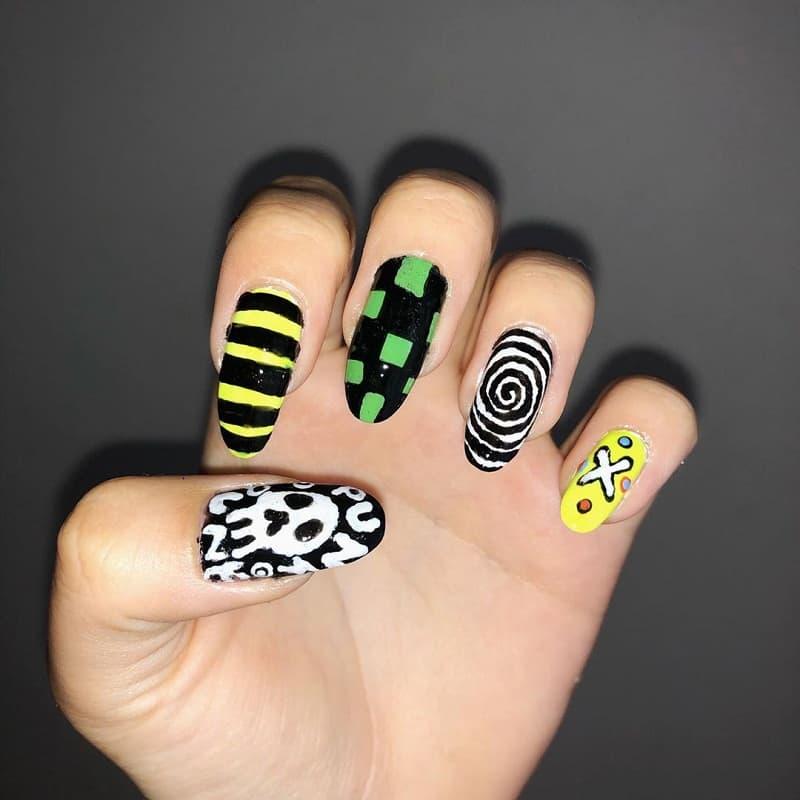 cute emo nails