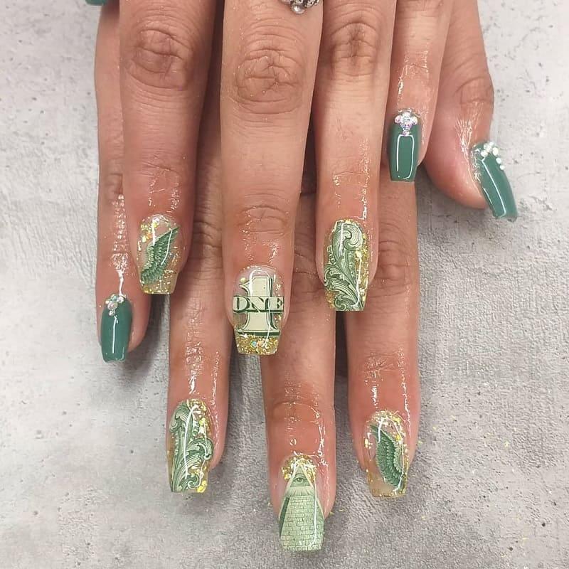 one dollar nail art