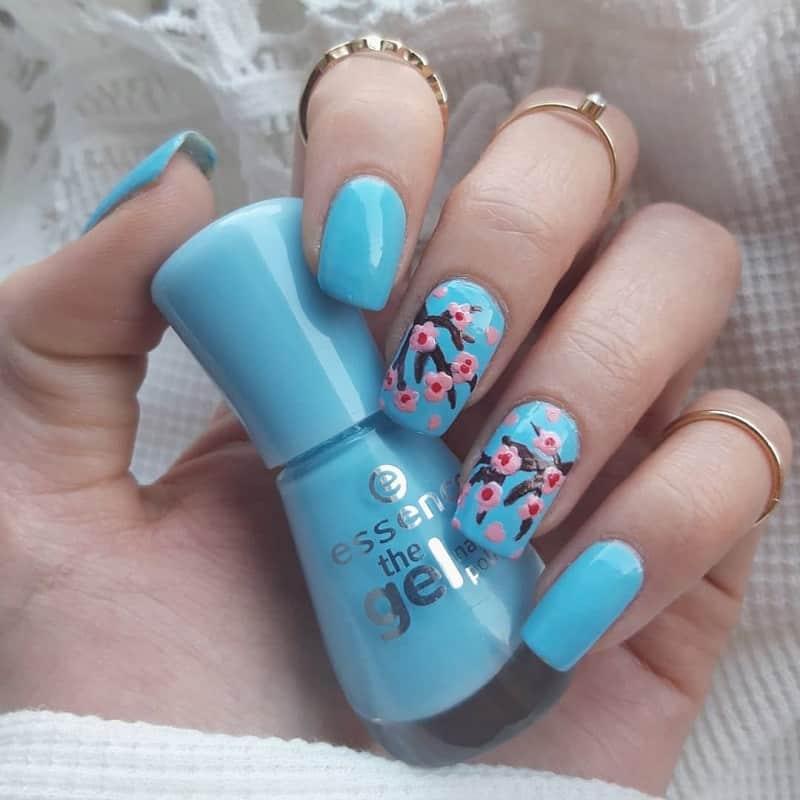 cherry blossom nail art designs