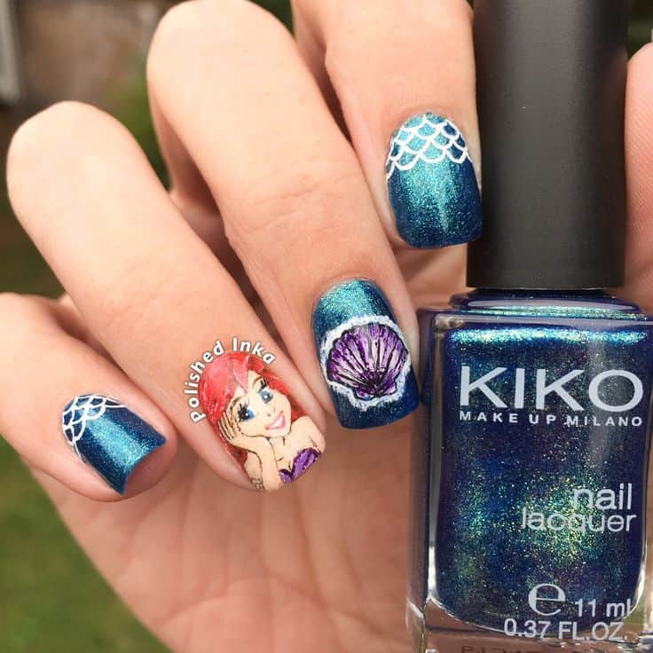 Ariel the Little Mermaid Nail