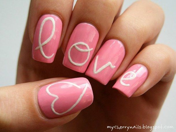Pink Valentine Day Nail Art - 35 Valentine's Day Nail Designs To Celebrate Love