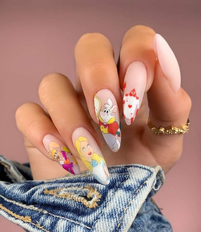 alice in wonderland nail stickers