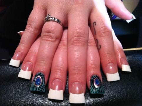 Peacock Design Duckbill Nails