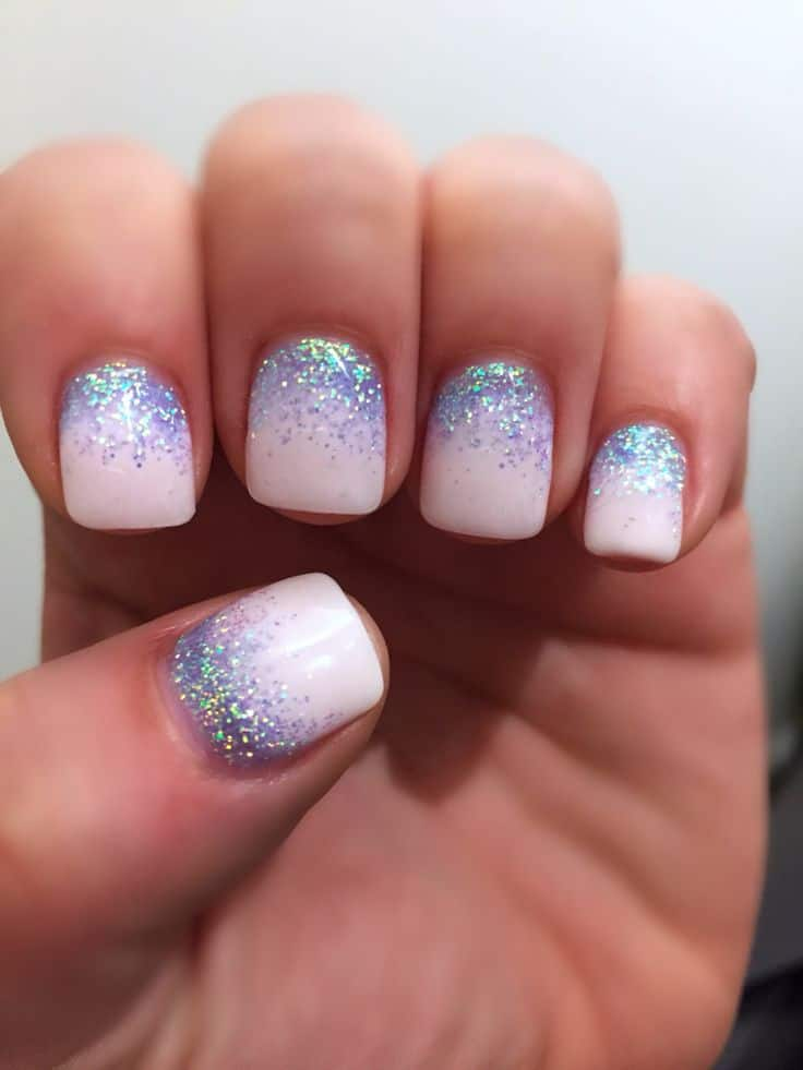20 Gradient Glitter Ombre Nails To Add Glam