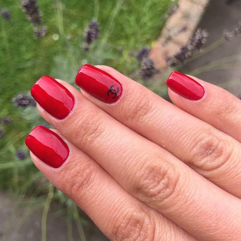 chanel dark red nail polish