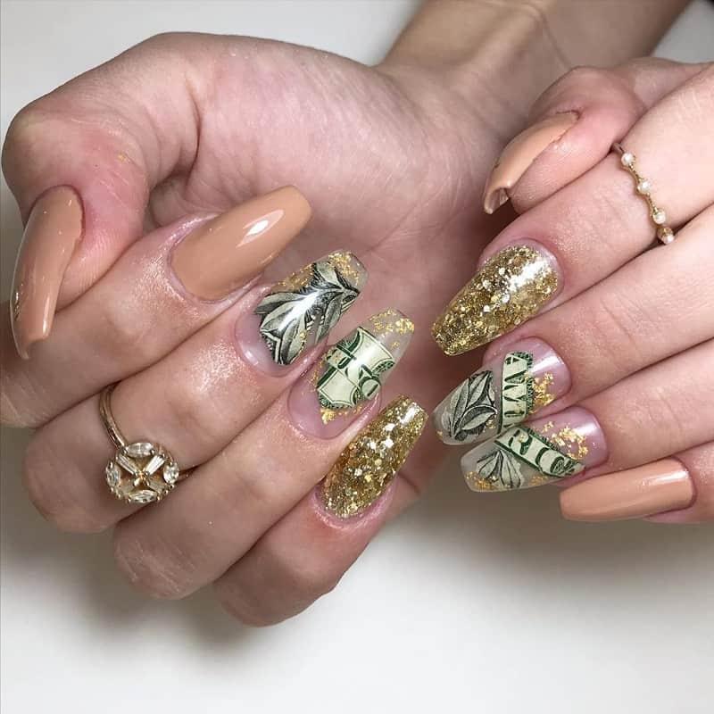 dollar coffin nail art