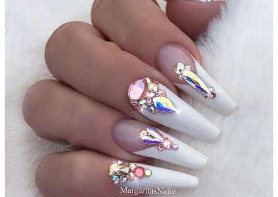 crystal nail designs
