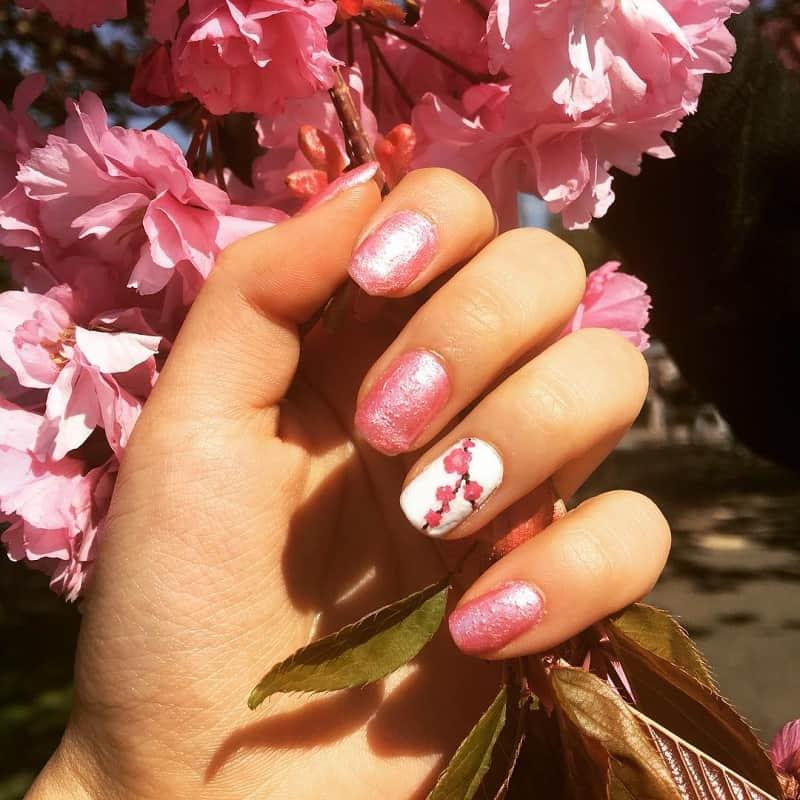 cherry blossom easy nail art