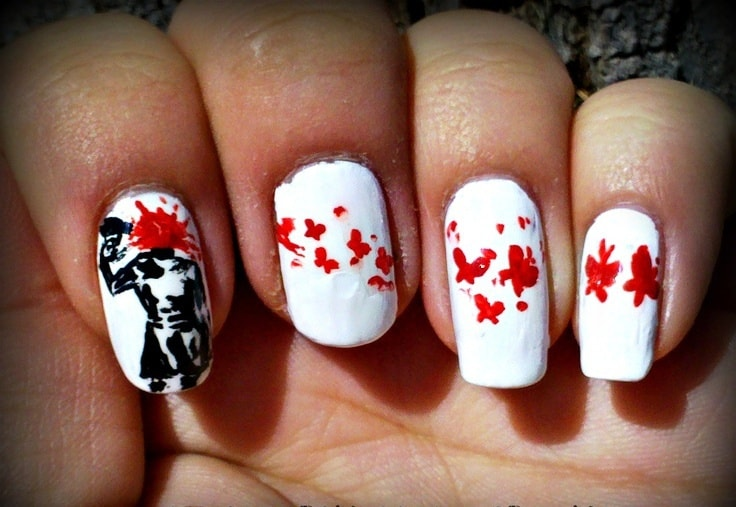 Hurt Emo Nail Design - 10 Enigmatic Emo And Gothic Nails To Ignite The Mystery
