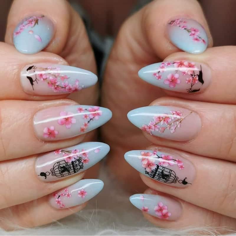 cherry blossom nail art stickers