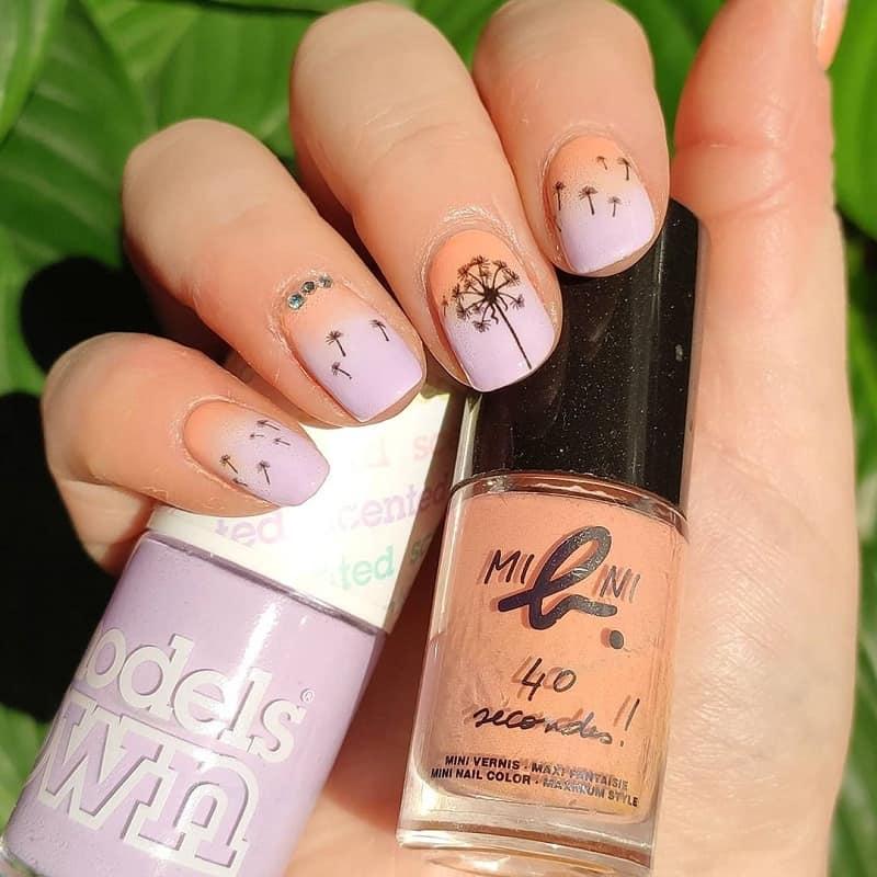 dandelion nail art
