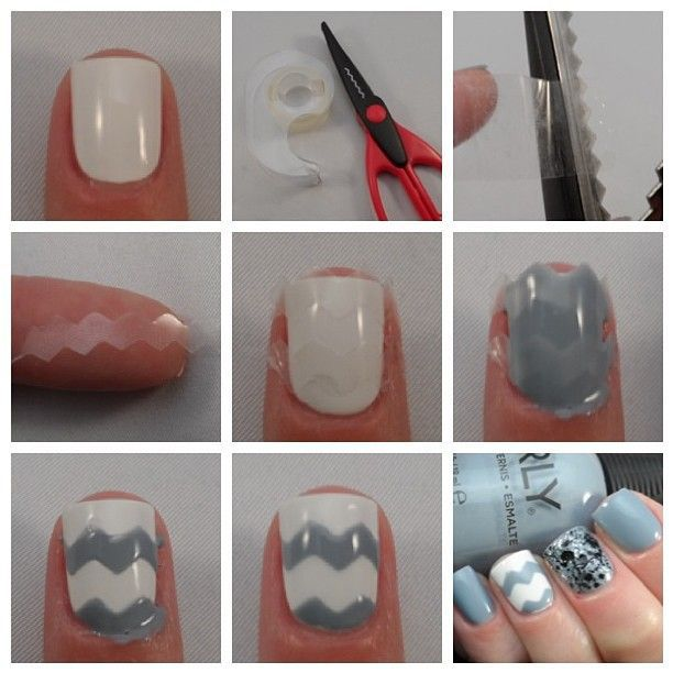 how to do chevron nail