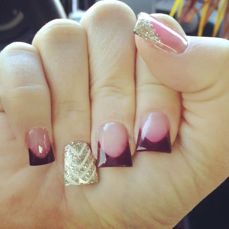 Duckbill nails should i give it a try naildesigncode this is one of the most beautiful duckbill nails i have ever seen you can have this simply gorgeous designs by accentuating maroon tipped duckbill nails prinsesfo Images