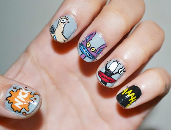 20 cutesy cartoon nail art for reminiscing childhood cartoon nail art designs prinsesfo Image collections