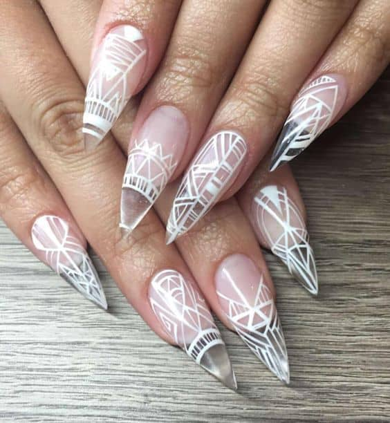 Clear White Nail Art Ideas: 15 Clear Nail Designs To Get A Simple Yet Gorgeous Look