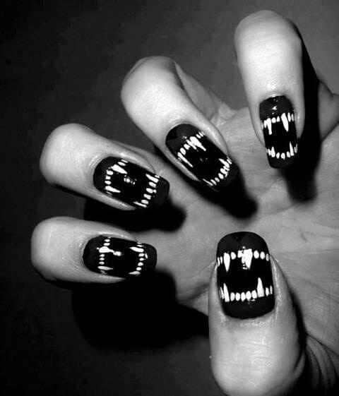 10 enigmatic emo and gothic nails to ignite the mystery if you are using black dominantly your gothic nails are already half done you dont need to add a lot of patterns for gothic nails publicscrutiny Choice Image