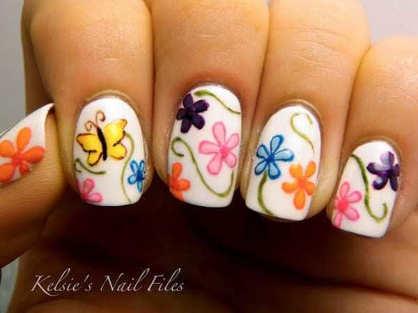 easy hand painted nail designs