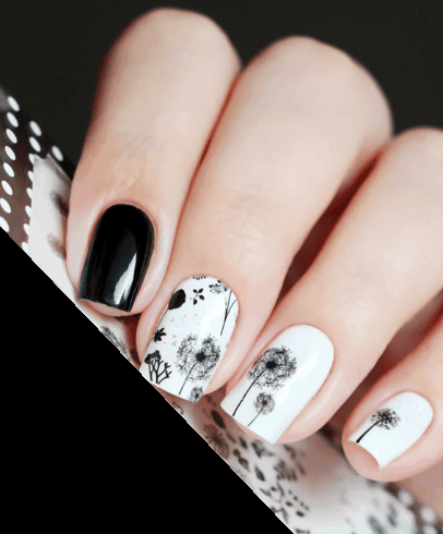 25 Dandelion Nail Art to Blow Your Wishes in The Breeze