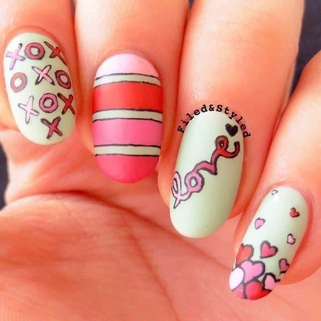 valentines day nails designs