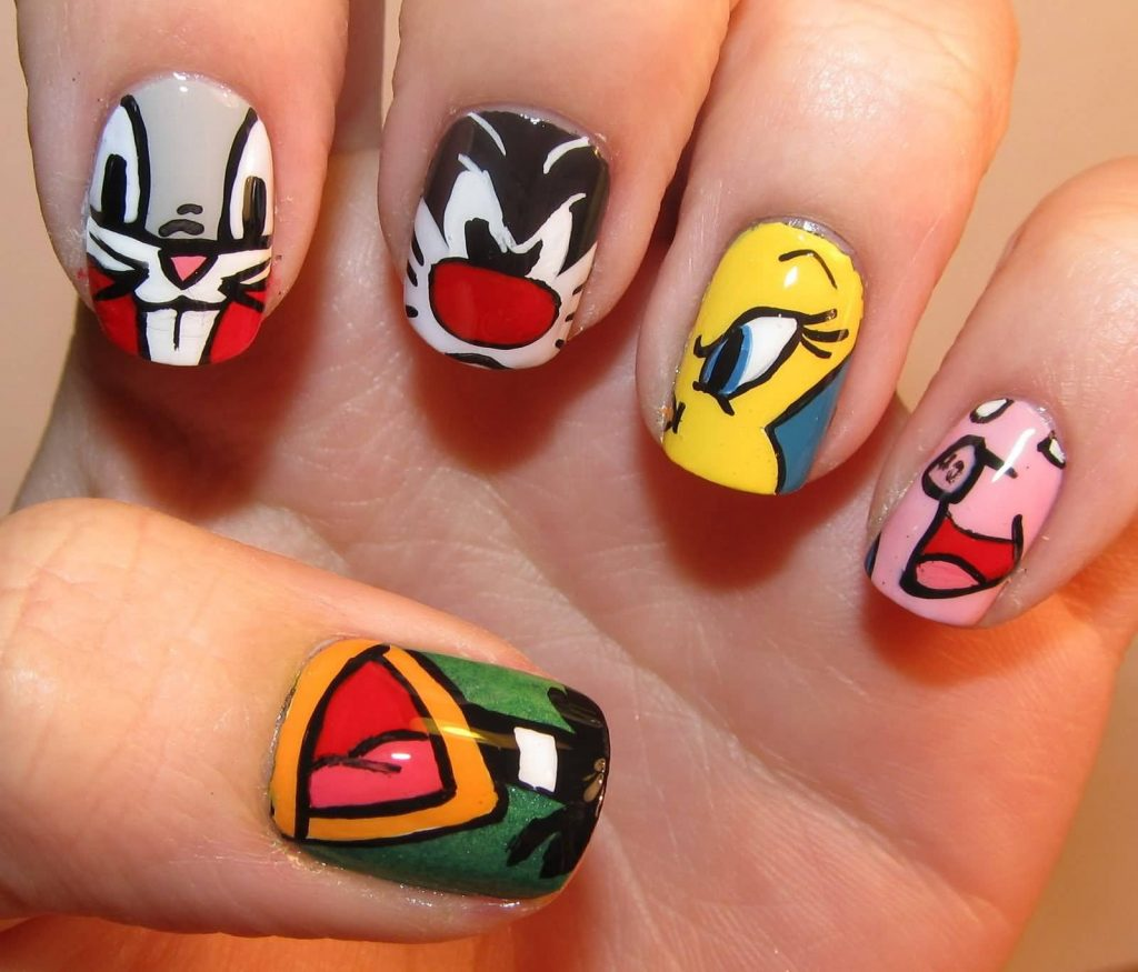 Looney Tunes Character Nail Art