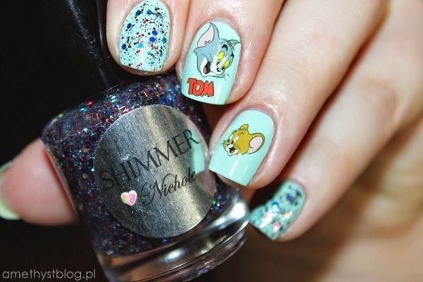 cartoon nail art