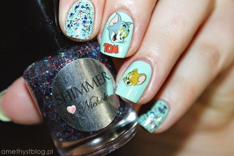 25 Cutesy Cartoon Nail Art for Reminiscing Childhood